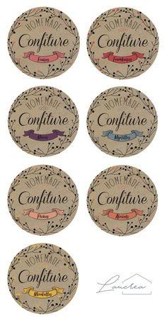 PRINTABLE - Etiquettes de confitures - Etiquettes à imprimer