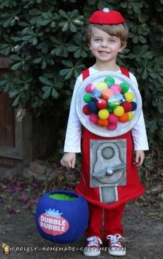 Coolest Homemade Costume Ideas – Find Inspiration for Your Next DIY Halloween Costume Gumball Machine Halloween Costume, Gumball Costume, Candy Costumes, Homemade Halloween Costumes, Halloween Costume Contest, Halloween Kostüm, Diy Costumes, Costume Ideas, Food Costumes For Kids
