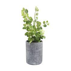 Cement Pot with Artificial Plant | Kmart