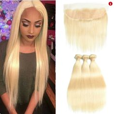 Human Hair Weaves Sleek Malaysia Straight 613 Honey Blonde Lace Frontal Closure 13x4 Ear To Ear Frontal 100% Remy Human Hair Lace Frontal 8-20 Elegant And Graceful