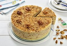 Egyptian walnut cake (CC Eng Sub) Romanian Desserts, Romanian Food, Baby Food Recipes, Cake Recipes, Dessert Recipes, No Cook Desserts, Easy Desserts, Food Cakes, Cupcake Cakes