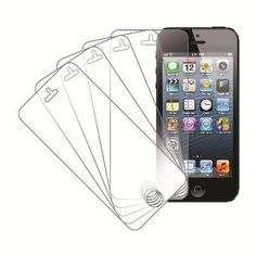 MPERO 5 Pack of Screen Protectors for Apple iPhone 5 / 5S / 5C