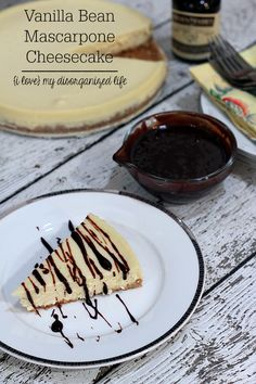 This rich dessert is made with lightly sweet mascarpone cheese & vanilla bean paste and topped with a smooth chocolate cream sauce!
