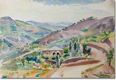 The Village of Mayrouba - Omar Onsi His Travel, Impressionist, Paintings, Art, Art Background, Paint, Painting Art, Kunst, Impressionism