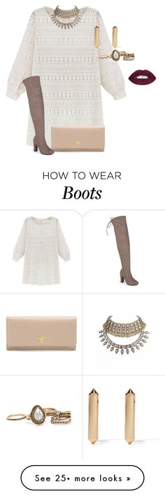 """plus size boots and dress lk3"" by xtrak on Polyvore featuring Prada, Eddie Borgo and Journee Collection"