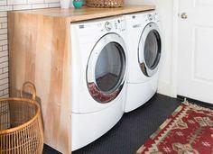 DIY Laundry Room Countertop
