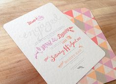 Love the colours and font used in this invite!