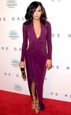 Va-va-voom! Naya Rivera is perfection in purple!