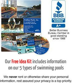 Endless Pools are ideal for health, fitness, aquatic therapy, personal enjoyment and much more.