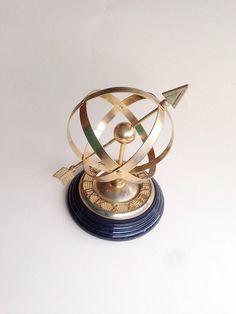Sundial Brass Celestial Sphere Armillary by Rubyapplevintage