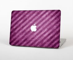 "The Vector Grunge Purple Striped Skin Set for the Apple MacBook Pro 15"" with Retina Display from Design Skinz"