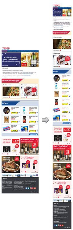 Responsive email design from Tesco