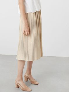 MANGO Midi Pleated Skirt Gold | spree.co.za