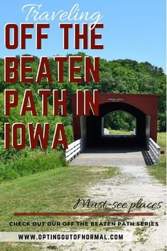 Off The Beaten Path In Iowa Exploring The Our Top Hidden - Exploring Our Top Hidden And Most Unique Places To Visit In Iowa There Are Some Really Interesting And Popular Things To See In Demoines So If Youre Going To Iowa Youre Probably Headi Rv Travel, Travel Guides, Family Travel, Places To Travel, Travel Destinations, Travel Items, Travel Hacks, National Parks Usa, Hiking Tips