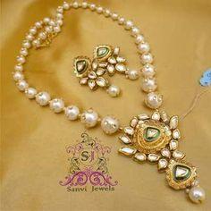 Pearl Kundan Jadau Necklace