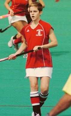 Emma Watson playing field hockey for Brown University (2010)