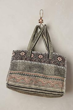 lovin' this woodcut duffel bag from anthropologie