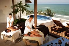 Riviera Nayarit in Puerto Vallarta, Mexico - ultimate wedding destination. Enjoy a couples retreat with a luxurious massage on the terrace suite. All Inclusive Mexico, All Inclusive Resorts, Massage Room, Spa Massage, Vacation Destinations, Vacation Spots, Honeymoon Packages, Cocktail, Puerto Vallarta