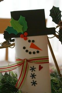 Snowman candy bar - cuteness wrapped around chocolate!