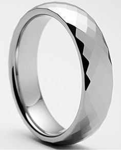 Multi Faceted 6mm Tungsten Ring | Tungsten Fashions Only $29.99! - use code FB10!  Happy Thanksgiving Everyone!