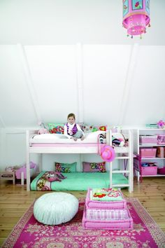 Sweet design for a little girl's bedroom from casapinka. I'd love to get my daughter's room looking like this!  Add a few more colors but love it.