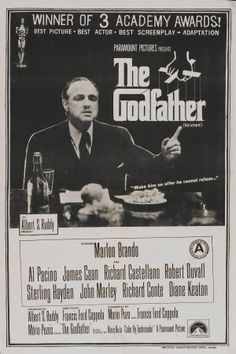 The Godfather (Francis Ford Coppola, The Godfather Poster, Godfather Part 1, Godfather Movie, Best Movies List, Good Movies, Marlon Brando Movies, Academy Awards Best Picture, Richard Conte, Love Actually 2003