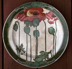 Art Nouveau Royal Doulton Poppies Plate