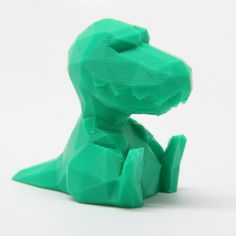 Download on cults3d.com #3Dprinting 3D Low Poly T-rex, RubixDesign