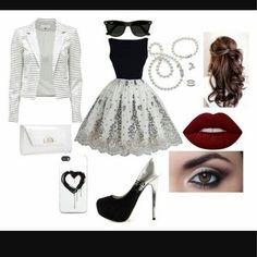 Cute dress,  beautifull hair AWESOME STYLE