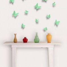 Mooie 3D vlinders verkrijgbaar in verschillende kleuren. Zwart, wit, paars, lavendel,roze blauw, turquoise en rood.