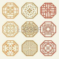 Illustration about Korean old of Window Frame Symbol sets. Korean traditional Pattern is a Pattern Design. Illustration of japan, illustration, emblem - 30663491 Korean Traditional, Traditional Design, Korean Art, Asian Art, Arte Tribal, Korean Design, Chinese Patterns, Geometric Pattern Design, 2 Logo