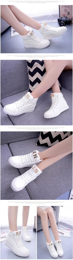 Sunsteps Hidden Wedge Canvas High-Top Sneakers | YESSTYLE