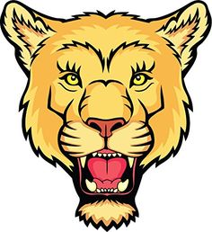 Lion Head Mscot Home Decal Vinyl Sticker 12'' X 13'' ** Check this awesome product by going to the link at the image. (This is an affiliate link and I receive a commission for the sales)