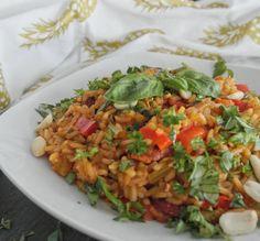 One-Pot Jambalaya mit Hühnchen - aus der rustikalen Cajun-Küche mit Basmati Reis