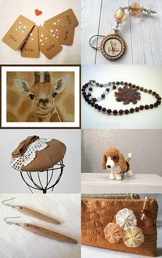Brown and White and Tan all over by Lori on Etsy--Pinned with TreasuryPin.com