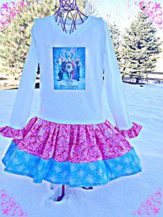 RTS girls FROZEN Princess Anna Elsa Disney by BlossomBlueBoutique, $38.99 Frozen Princess, Princess Anna, Frozen Birthday Outfit, Elsa Anna, Dress Ideas, Serenity, Party Ideas, Babies, Sewing