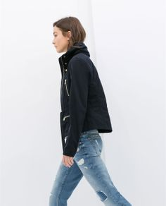 Image 3 of JACKET WITH ZIPS from Zara