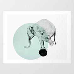 elephant Art Print by Morgan Kendall - $19.00