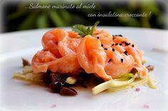 Carpaccio di salmone marinato al miele