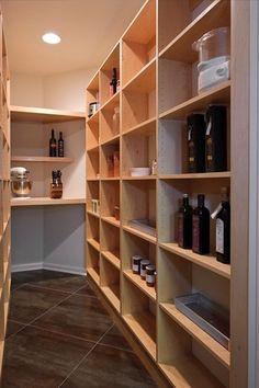 Modern Pantry with Pental Marvel Bronze Luxury Lappato, sandstone tile floors, Built-in bookshelf