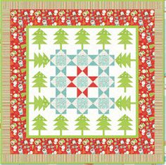 Quilt Inspiration: Free pattern day: Christmas quilts (part 1): Trees!