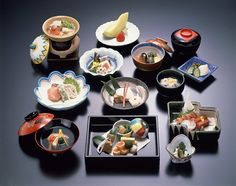 Traditional multi-course Japanese dinner