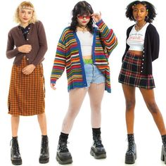 Indie Outfits, Retro Outfits, Cool Outfits, Fashion Outfits, Casual Outfits, 00s Mode, Mode Harajuku, Look Retro, Mein Style