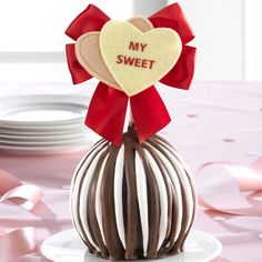 My Sweet Ornamented Apple Jumbo Apple Gift  Mrs. Prindable's   Valentine's Day Collection