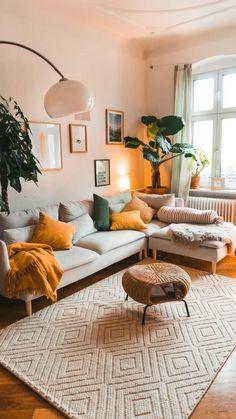 Colourful Living Room, Boho Living Room, White Couch Living Room, Living Room Colors, Earthy Living Room, Living Room Modern, Living Room Interior, Living Room Designs, Eclectic Living Room