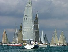 Yachts at Cowes Week, Isle of Wight