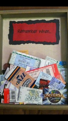 Cute ticket memory box