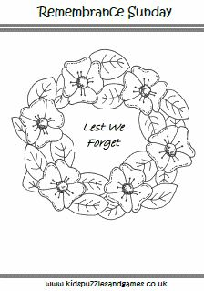 Anzac Day Poppy Wreath Colouring - Kids Puzzles and Games Remembrance Day Pictures, Remembrance Day Activities, Remembrance Day Poppy, Poppy Coloring Page, Pumpkin Coloring Pages, Colouring Pages, Colouring Sheets, Anzac Day For Kids, Anzac Day Australia