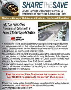 Help Your Facility Save Thousands of Dollars with a Rexnord Roller Upgrade System