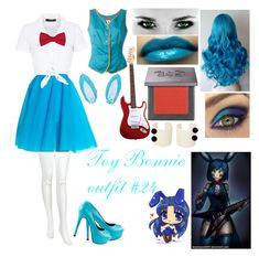 """""""Toy Bonnie outfit #24"""" by toy-chica2 ❤ liked on Polyvore featuring Urban Decay, Hallhuber, Chantal Thomass, TaylorSays, Kenzo, Ann Demeulemeester and Deborah Lippmann"""